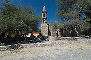 The tiny Capilla de la Cieneguita or chapel near San Miguel de Allende in Cieneguita, Mexico.