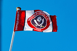 A flag atop Bramall Lane, home of Sheffield United - Mandatory by-line: Ryan Crockett/JMP - 26/12/2017 - FOOTBALL - Bramall Lane - Sheffield, England - Sheffield United v Sunderland - Sky Bet Championship