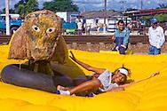 Bucking bull ride in Ciro Redondo, Ciego de Avila, Cuba.