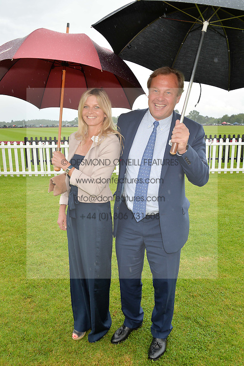 The MARQUESS & MARCHIONESS OF MILFORD HAVEN at the Cartier Queen's Cup Final 2016 held at Guards Polo Club, Smiths Lawn, Windsor Great Park, Egham, Surry on 11th June 2016.