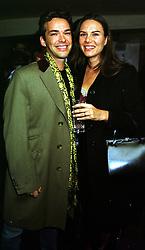 HENRY & LILI DENT-BROCKLEHURST  at a party in London on 2nd November 1999.MYL 49