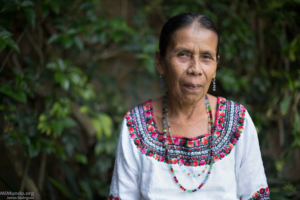 """War victim and sexual slavery survivor Demecia Yat, 63, poses for a photo. Ms. Yat is one of 15 Q'eqchi' Mayan indigenous women who were plaintiffs in the landmark Sepur Zarco case. The women were enslaved in 1982, shortly after the forced disappearance of their husbands, and systematically raped and forced into bondage for up to six years at the Zepur Sarco military camp. In 2016, the landmark Sepur Zarco trial sentenced two men for the crimes during the Guatemalan internal armed conflict. It is the first time a national court condemns sexual slavery crimes as an act of war. Ms Yat stated: """"We came out and followed through with the legal case so that the whole World will know what happened, and so that it won't happen again."""" Ms. Yat's deceased husband, Juan Choc, was forcibly disappeared along with other male family members from the other surviving women in May 1982 during the de facto government of Efrain Rios Montt. Guatemala City, Guatemala. May 25, 2017."""