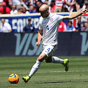 Michael Bradley, USA, in action during the US Men's National Team Vs Turkey friendly match at Red Bull Arena.  The game was part of the USA teams three-game send-off series in preparation for the 2014 FIFA World Cup in Brazil. Red Bull Arena, Harrison, New Jersey. USA. 1st June 2014. Photo Tim Clayton
