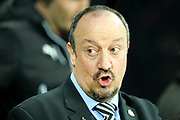 Newcastle United manager Rafael Benitez during the Premier League match between Newcastle United and Manchester City at St. James's Park, Newcastle, England on 27 December 2017. Photo by Craig Doyle.