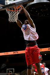C/F Yancy Gates (Cincinnati, OH / Withrow) finishes a dunk.  The National Basketball Players Association held a camp for the Top 100 high school basketball prospects at the John Paul Jones Arena at the University of Virginia in Charlottesville, VA from June 20, 2007 through June 23, 2007.