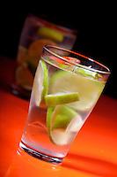 Close up of drink - studio shot