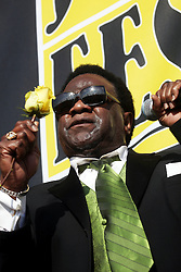 29 April 2012. New Orleans, Louisiana,  USA. <br /> New Orleans Jazz and Heritage Festival. <br /> Al Green, crooner, Gospel and Soul legend.<br /> Photo; Charlie Varley/varleypix.com
