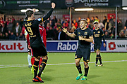 Jonas Svensson of AZ Alkmaar celebrates 0-4 with Wout Weghorst of AZ Alkmaar