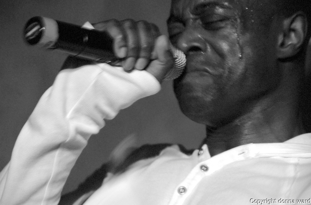 Singer Kem performs in the Pearl Room at Nikki Beach during the Winter Music Conference on South Beach, Miami.