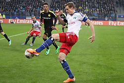 Football: Germany, 1. Bundesliga, Hamburg, 16.02.2014<br />Marcell Jansen (Hamburger SV)<br /> copyright: pixathlon