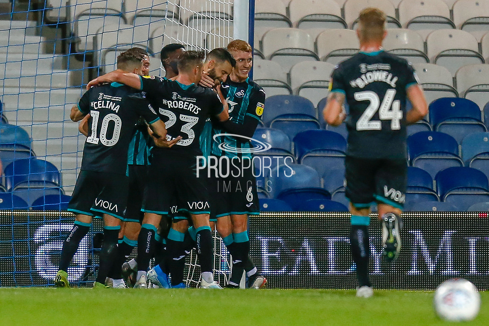 GOAL 1-2 Swansea City forward Borja González (9) scores and celebrates during the EFL Sky Bet Championship match between Queens Park Rangers and Swansea City at the Kiyan Prince Foundation Stadium, London, England on 21 August 2019.