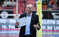 Volleyball 1. Bundesliga  Saison 2018/2019 TV Rottenburg - SVG Lueneburg    10.02.2019 Trainer Hans Peter Mueller - Angstenberger (TV Rottenburg) nachdenklich