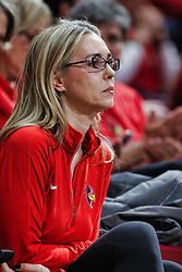 NORMAL, IL - February 02:  Melissa Muller during a college basketball game between the ISU Redbirds and the University of Loyola Chicago Ramblers on February 02 2019 at Redbird Arena in Normal, IL. (Photo by Alan Look)