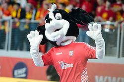 Mascot during handball match between National teams of Macedonia and Denmark on Day 7 in Main Round of Men's EHF EURO 2018, on January 24, 2018 in Arena Varazdin, Varazdin, Croatia. Photo by Mario Horvat / Sportida