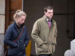 © Licensed to London News Pictures. 21/12/2016. Bristol, UK. PHILIP POTTER (right) arriving at Bristol Crown Court as a defendant in the Tipper truck crash trial. Philip Potter, 20, Matthew Gordon, 30, and Peter Wood, 55 face a total of 14 charges linked to last year's tragedy in Bath, when a runaway tipper truck killed four people and seriously injured two others on Lansdown Lane. Mitzi Steady aged 4 from Bath and Robert Parker, 59, Philip Allen, 52, and Stephen Vaughan, 34, who lived in Wales, lost their lives in the fatal collision. Mitzi's grandmother Margaret Rogers and another woman, Karla Brennan, were seriously injured. Photo credit : Simon Chapman/LNP