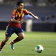 Pedro, Spain, in action during the Spain V Ireland International Friendly football match at Yankee Stadium, The Bronx, New York. USA. 11th June 2013. Photo Tim Clayton