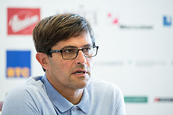 Matjaz Rakovec at press conference of HZS and Nik Zupancic as a new head coach of Slovenian national hockey team, on June 15th, in Hala Tivoli , Ljubljana, Slovenia. Photo by Matic Klansek Velej / Sportida