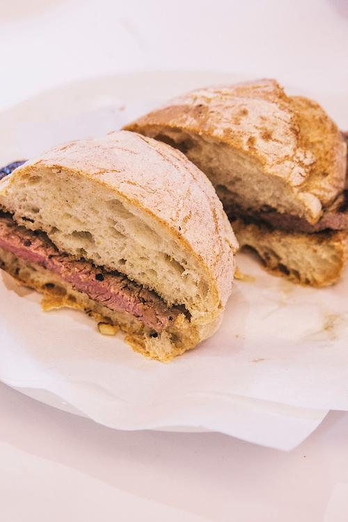 Prego steak sandwich at Cervejaria Ramiro, Lisbon