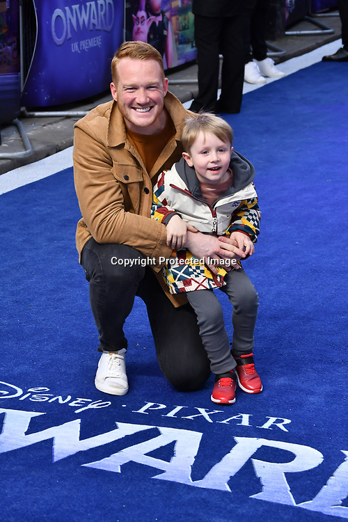 Greg Rutherford Arrivers at UK Premiere of Onward at Curzon Street, Mayfair, on 23th February 2020, London, UK.