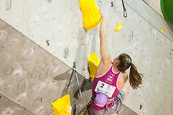 Jessica Pilz (AUT) during women final competition of IFSC Climbing World Cup Kranj 2014, on November 16, 2014 in Arena Zlato Polje, Kranj, Slovenia. (Photo By Grega Valancicr / Sportida.com)