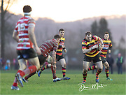 Carmarthen Quins' prop Ollie breaks through the defence.<br /> <br /> Photographer: Dan Minto<br /> <br /> Indigo Welsh Premiership Rugby - Round 12 - Llandovery RFC v Carmarthen Quins RFC - Saturday 28th December 2019 - Church Bank, Llandovery, South Wales, UK.<br /> <br /> World Copyright © Dan Minto Photography<br /> <br /> mail@danmintophotography.com <br /> www.danmintophotography.com