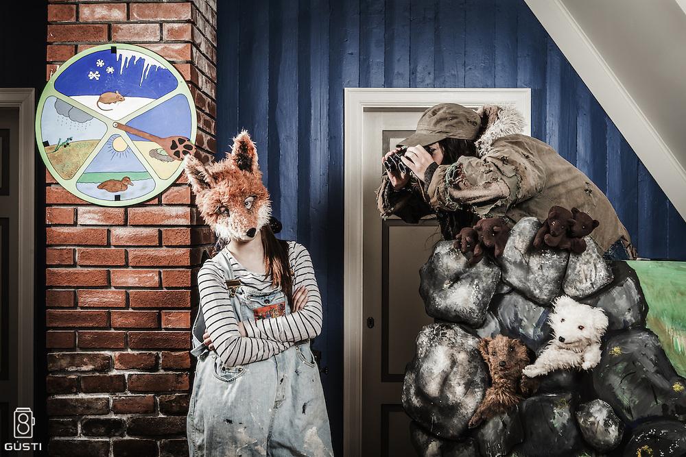 A poster for a play in Melrakkasetur Íslands, Mikki og melrakkarnir.