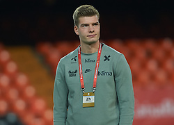 March 23, 2019 - Valencia, Valencia, Spain - Kristoffer Ajer of Norway national team prior the European Qualifying round Group F match between Spain and Norway at Estadio de Mestalla, on March 23 2019 in Valencia, Spain  (Credit Image: © Maria Jose Segovia/NurPhoto via ZUMA Press)