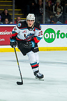 KELOWNA, BC - DECEMBER 30: Dillon Hamaliuk #22 of the Kelowna Rockets skates against the Prince George Cougars at Prospera Place on December 30, 2019 in Kelowna, Canada. Hamaliuk was selected in the 2019 NHL entry draft by the San Jose Sharks. (Photo by Marissa Baecker/Shoot the Breeze)