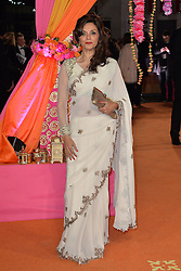 Lillete Dubey attends the CTBF Royal Performance and World Premiere of The Second Best Exotic Marigold Hotel, at the Odeon Leicester Square in London, England. 17th February 2015. EXPA Pictures © 2015, PhotoCredit: EXPA/ Photoshot/ James Warren<br /> <br /> *****ATTENTION - for AUT, SLO, CRO, SRB, BIH, MAZ only*****