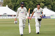 Close of play Day 2 Not out Matt Taylor & Benny Howell during the Specsavers County Champ Div 2 match between Gloucestershire County Cricket Club and Leicestershire County Cricket Club at the Cheltenham College Ground, Cheltenham, United Kingdom on 16 July 2019.