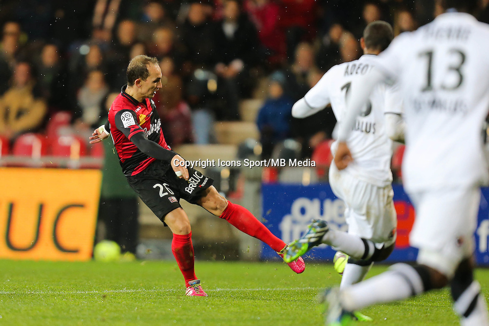 Goal Thibault GIRESSE - 03.12.2014 - Guingamp / Caen - 16eme journee de Ligue 1 <br />