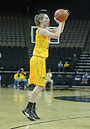 December 30, 2011: Iowa Hawkeyes forward Kelly Krei (20) puts up a three point shot during the NCAA women's basketball game between the Northwestern Wildcats and the Iowa Hawkeyes at Carver-Hawkeye Arena in Iowa City, Iowa on Wednesday, December 30, 2011.