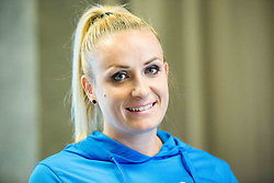 Sabina Veit during press conference of The Athletic Federation of Slovenia and their best athletes before summer season 2016, on May 16, 2016, in Maximarket, Ljubljana, Slovenia. Photo by Vid Ponikvar / Sportida