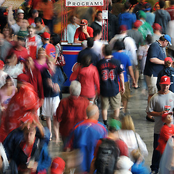 PHILADELPHIA, PA - JULY 08: Fans fill the concourse during a rain delayed game between the Atlanta Braves and Philadelphia Phillies at Citizens Bank Park on July 8, 2011 in Philadelphia, Pennsylvania. (Photo by Drew Hallowell/Getty Images)  *** Local Caption ***