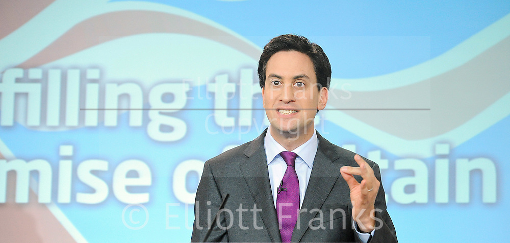 Labour Press Conference <br /> at Labour Press HQ, London, Great Britain <br /> 13th October 2011<br /> <br /> Rt Hon Ed Miliband MP<br /> Leader of the Labour Party<br /> Member of Parliament<br /> for Doncaster North<br /> <br /> <br /> <br /> Photograph by Elliott Franks