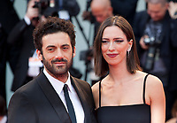 Morgan Spector and Rebecca Hall at the premiere of the film Suburbicon at the 74th Venice Film Festival, Sala Grande on Saturday 2 September 2017, Venice Lido, Italy.
