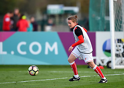 Frankie Brown of Bristol City Women warms up before the FA WSL 1 game between Bristol City Women and Reading Women - Mandatory by-line: Paul Knight/JMP - 28/10/2017 - FOOTBALL - Stoke Gifford Stadium - Bristol, England - Bristol City Women v Reading Women - FA Women's Super League