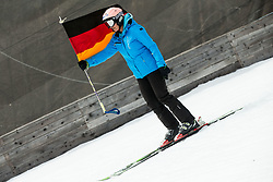 Flag of Germany during Ski Flying Hill Men's Team Competition at Day 3 of FIS Ski Jumping World Cup Final 2017, on March 25, 2017 in Planica, Slovenia. Photo by Vid Ponikvar / Sportida