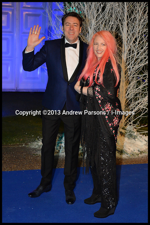 Jonathan Ross and his wife Jane attend the Winters Whites Gala in aid of Centrepoint at Kensington Palace, London, United Kingdom. Tuesday, 26th November 2013. Picture by Andrew Parsons / i-Images