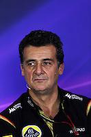Federico Gastaldi (ARG) Lotus F1 Team Deputy Team Principal in the FIA Press Conference.<br /> Italian Grand Prix, Friday 5th September 2014. Monza Italy.