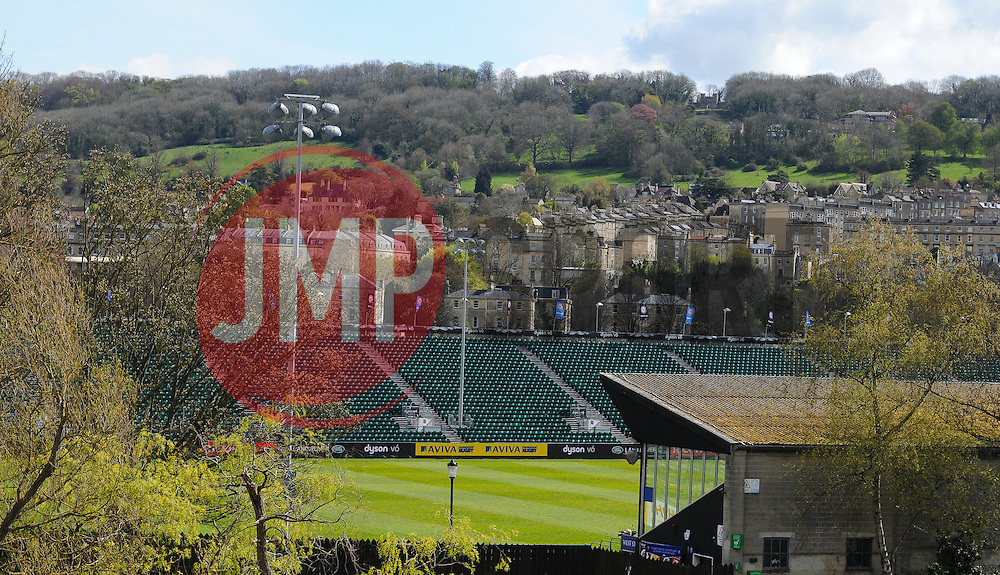General view of the Recreation ground, Bath.  - Mandatory by-line: Alex Davidson/JMP - 23/04/2016 - RUGBY - Recreation Ground - Bath, England - Bath Rugby v Sale Sharks - Aviva Premiership