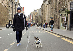 Dog walkers enjoyed car free Canongate during Open Streets day. pic copyright Terry Murden @edinburghelitemedia