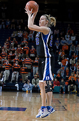 Duke Blue Devils Guard/Forward Brittany Mitch (22) in action against UVA.  The University of Virginia Cavaliers lost to the #1 ranked Duke University Blue Devils 76-61 at the John Paul Jones Arena in Charlottesville, VA on February 2, 2007.