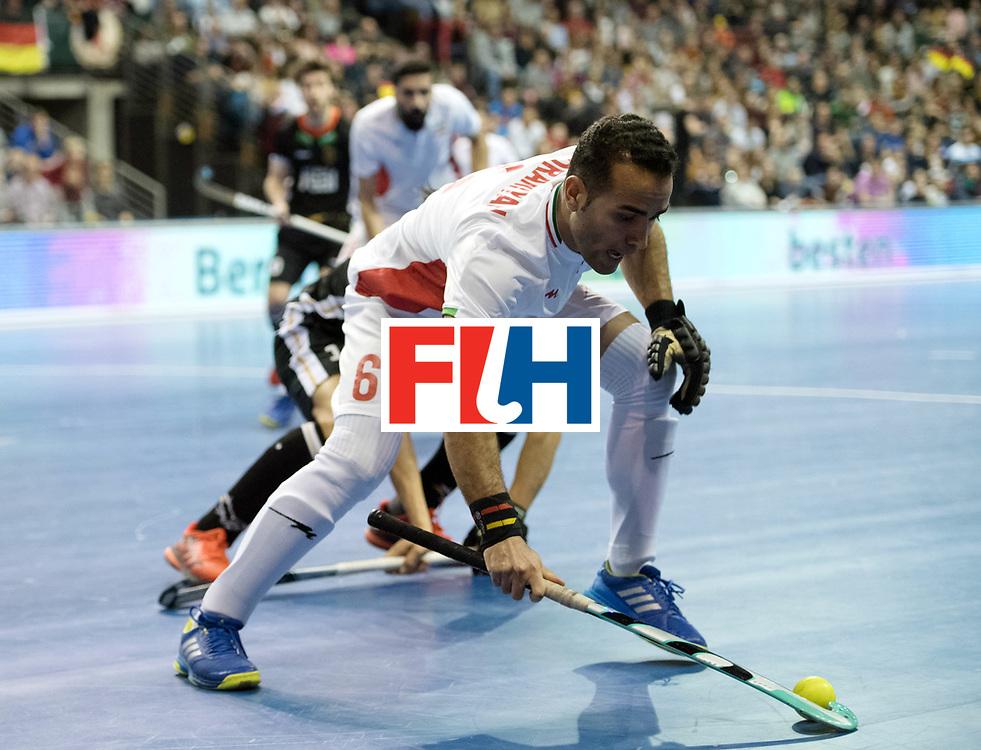BERLIN - Indoor Hockey World Cup<br /> SF1 Germany - Iran<br /> foto: Hamid Nooranian <br /> WORLDSPORTPICS COPYRIGHT FRANK UIJLENBROEK