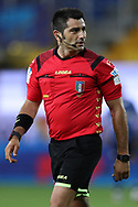 The match referee Fabio Maresca reacts during the Serie A match at Stadio Ennio Tardini, Parma. Picture date: 28th June 2020. Picture credit should read: Jonathan Moscrop/Sportimage