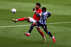 Zak Vyner of Bristol City is challenged by Kadeem Harris of Sheffield Wednesday - Rogan/JMP - 28/08/2020 - Ashton Gate Stadium - Bristol, England - Bristol City v Sheffield Wednesday - Sky Bet Championship.