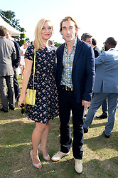 JOSEPH MAWLE and INDIA SINCLAIR at the Audi Polo Challenge 2013 at Coworth Park Polo Club, Berkshire on 3rd August 2013.