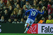 Everton forward Gerard Deulofeu  celebrates his goal  during the Capital One Cup match between Middlesbrough and Everton at the Riverside Stadium, Middlesbrough, England on 1 December 2015. Photo by Simon Davies.