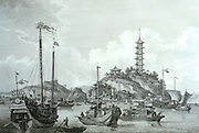 CHICAGO, MUSEUMS and ARTISTS 19th C European Engraving Tchin-shan city on Yangtze River Art Institute of Chicago
