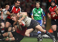 Photo: Rich Eaton.<br /> <br /> Wales v Canada. Invesco Perpetual Series. 17/11/2006. Gethin Jenkins right of Wales makes a determined attack